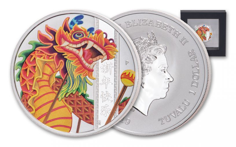 2019 Tuvalu $1 1-oz Silver Chinese New Year Proof