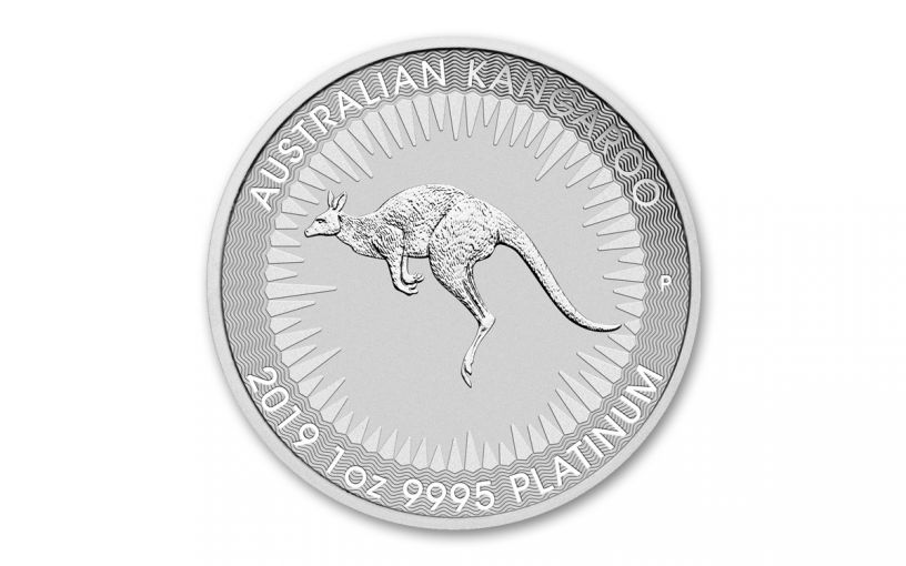2019 Australia $100 1-oz Platinum Kangaroo BU