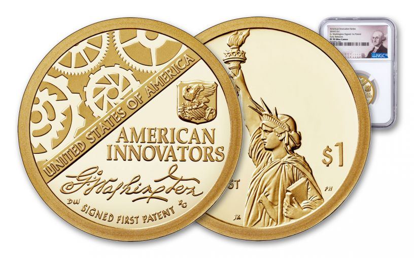 2018-S American Innovation Dollar NGC PF70UC Early Releases - Washington Label