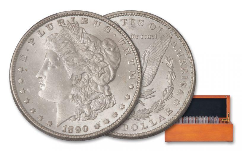 1878–1921-P/CC/O/S $1 Morgan 15-Coin Set PCGS MS62–MS65