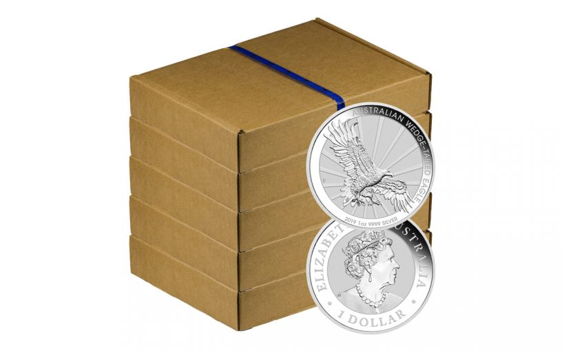 2019 Australia $1 1-oz Silver Wedge Tailed Eagle Uncirculated 500-Piece Tray