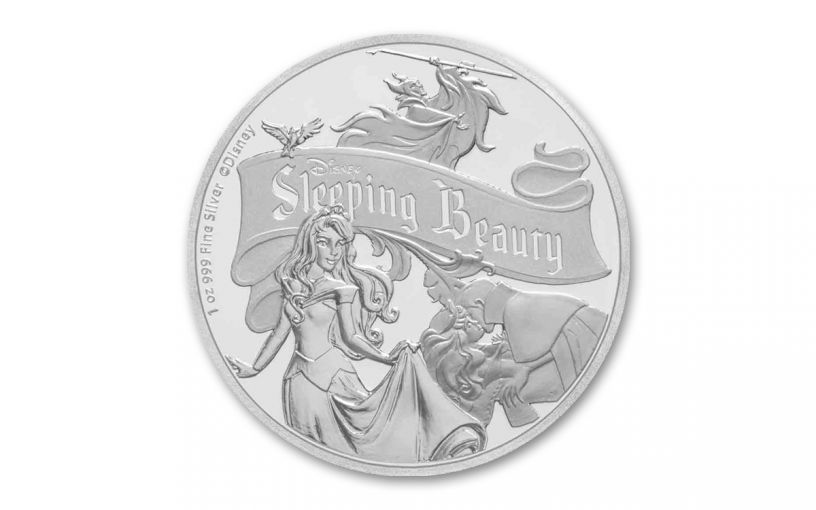 2019 Niue $2 1-oz Silver Disney 60th Anniversary of Sleeping Beauty Proof