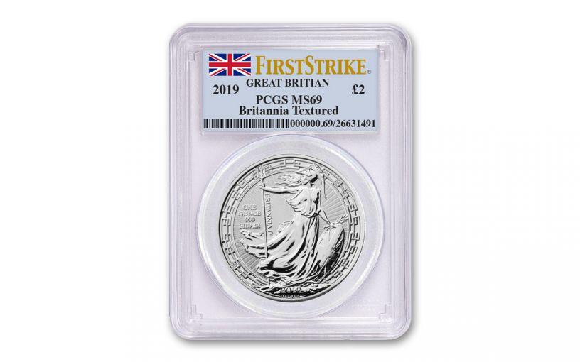 2019 Great Britain £2 1-oz Silver Oriental Britannia PCGS MS69 First Strike