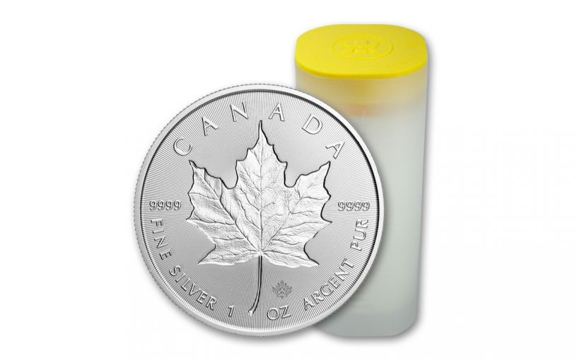 2019 Canada 1-oz Silver Incuse Maple Leaf Gem BU 25-pc Roll