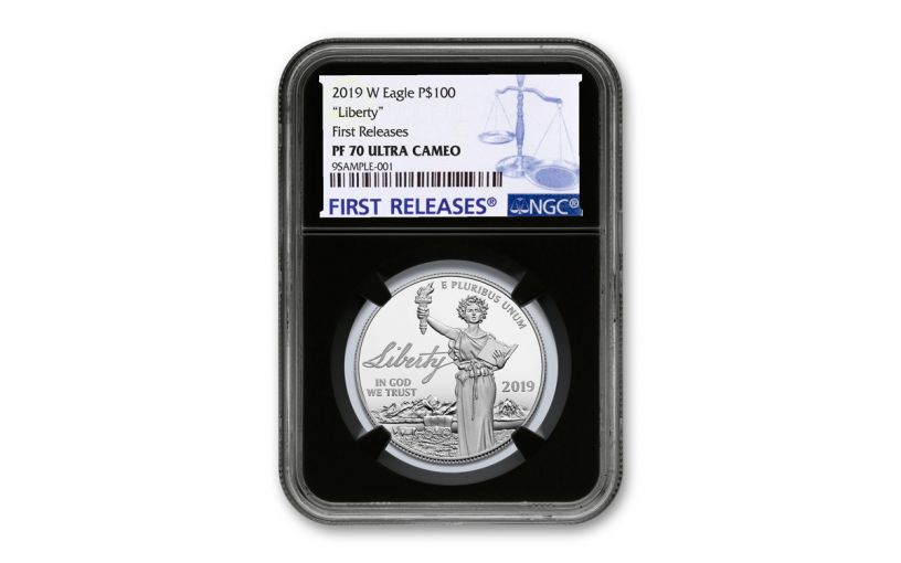2019-W $100 1-oz Platinum Eagle Liberty NGC PF70UC First Releases - Black Core