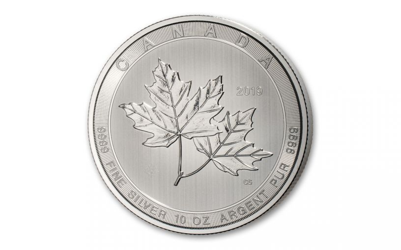 2019 Canada $50 10-oz Silver Magnificent Maple Leaf BU