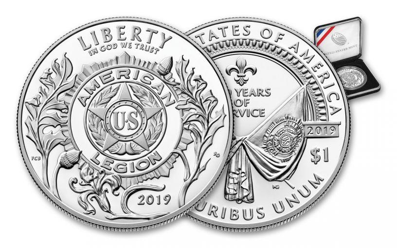 2019-P Silver Dollar American Legion 100th Anniversary Commemorative Proof