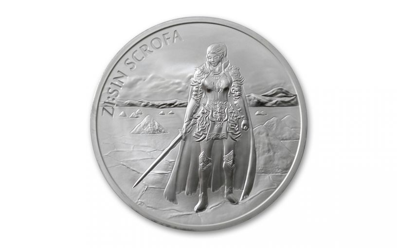 2019 South Korea 1-oz Silver ZI:SIN Scrofa Medal BU