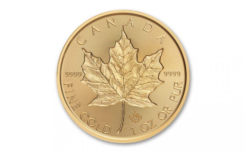 2019 Canada $50 1-oz Gold Maple Leaf Incuse BU