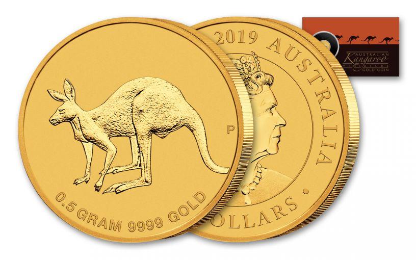2019 Australia $2 1/2-Gram Gold Kangaroo Uncirculated