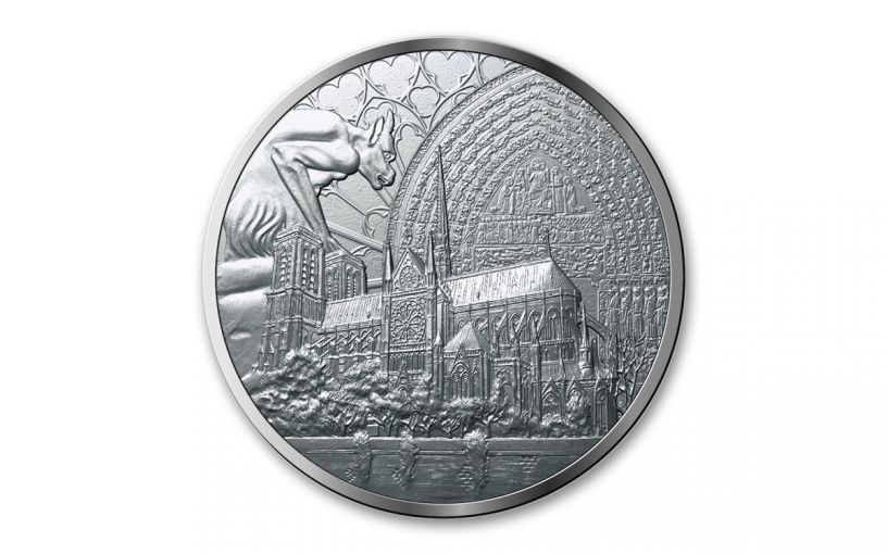 2019 France Copper-Nickel Notre Dame Reconstruction Medal Uncirculated