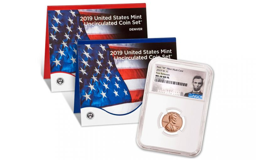 2019-P&D U.S. Mint Set w/2019-W Lincoln Cent NGC MS68 First Releases