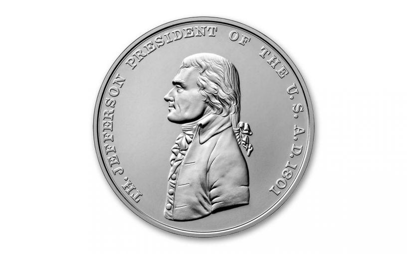 2019 1-oz Silver Thomas Jefferson Presidential Medal BU