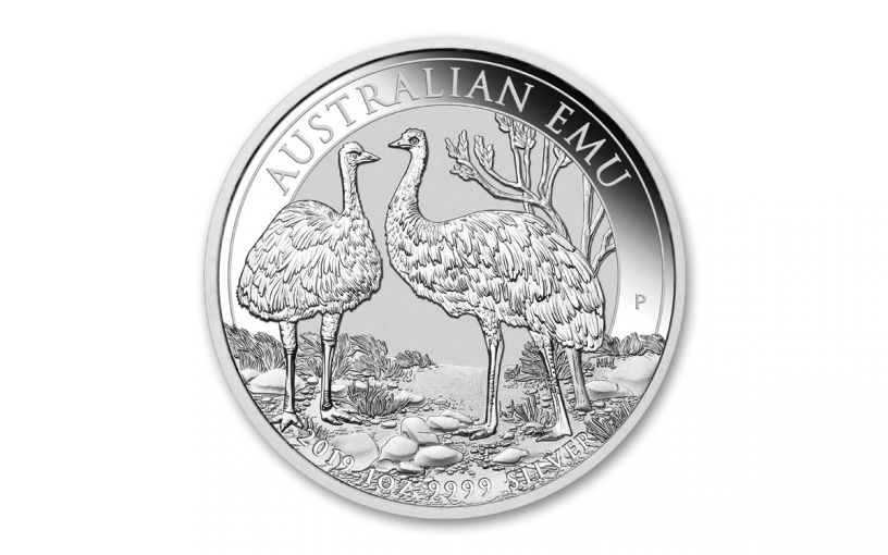 2019 Australia $1 1-oz Silver Emu BU