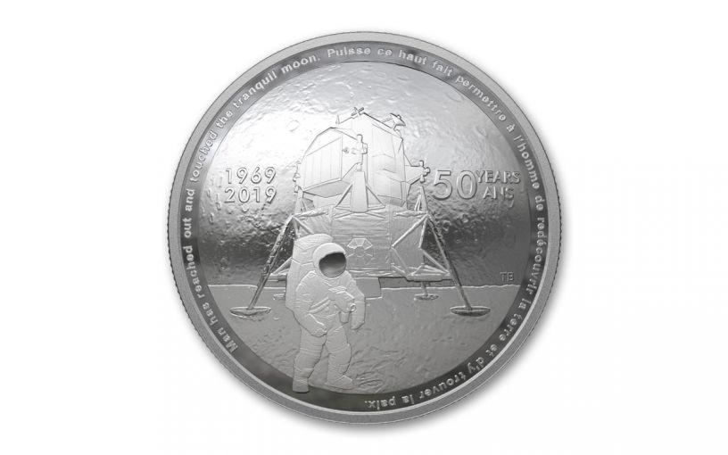 2019 Canada $25 1-oz Silver Apollo 11 50th Anniversary Domed Proof