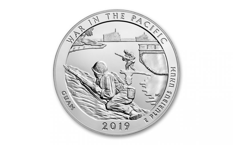 2019 5-oz Silver America the Beautiful – War in the Pacific National Historical Park BU