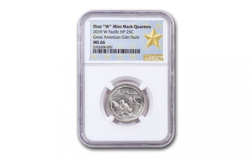 2019-W 25¢ America the Beautiful War in the Pacific National Historical Park Quarter NGC MS66 w/Gold Star Label
