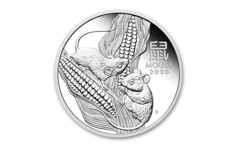 2020 Australia $1 1-oz Silver Lunar Year of the Mouse Proof