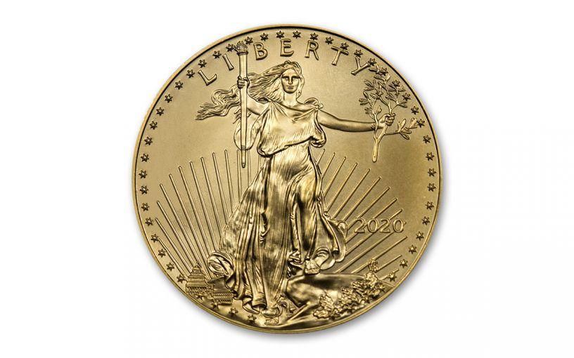 2020 $10 1/4-oz Gold American Eagle BU
