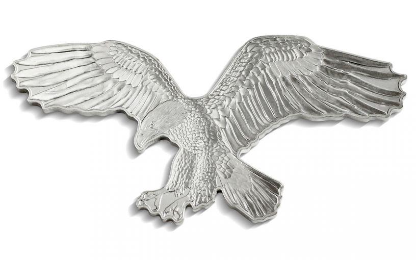 2019 Solomon Islands $2 1-oz Silver Bald Eagle Reverse Proof Shaped Coin