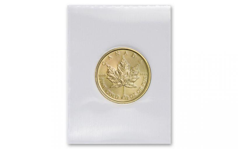 2020 Canada $20 1/2-oz Gold Maple Leaf BU Mint Sealed