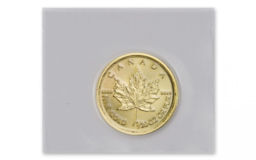2020 Canada $1 1/20-oz Gold Maple Leaf BU Mint Sealed