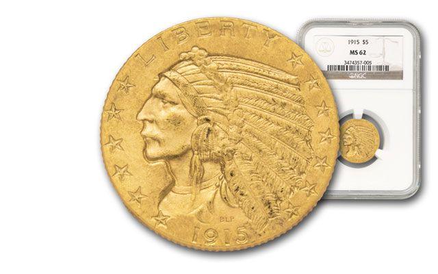 1908-1929 5 Dollar Gold Indian NGC/PCGS MS62