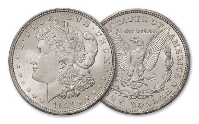 1921-D Morgan Silver Dollar BU