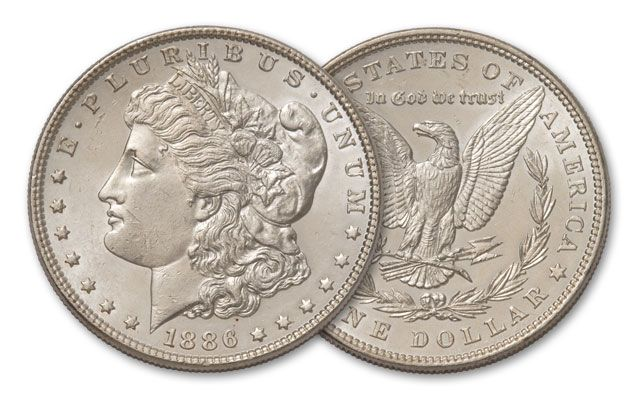 1886-P Morgan Silver Dollar BU