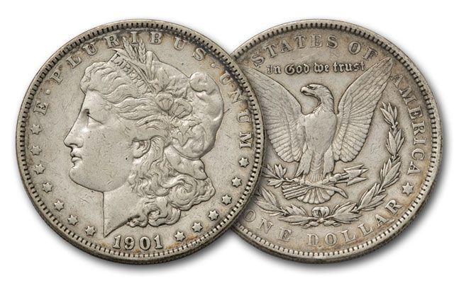 1878-1921 Morgan Silver Dollar F/VF