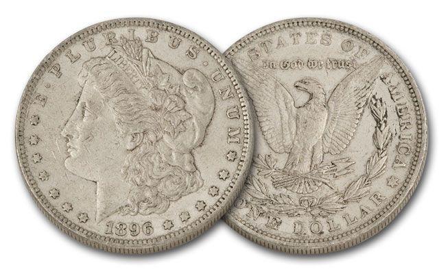1896-P Morgan Silver Dollar XF