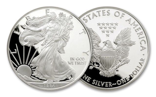 1986 1 Dollar 1-oz Silver Eagle Proof