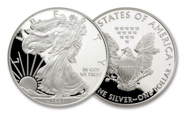 1991-S 1 Dollar 1-oz Silver Eagle Proof