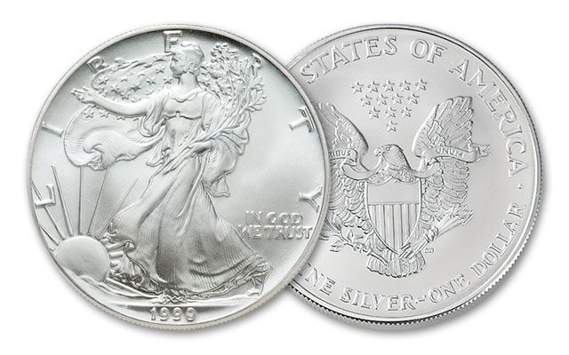 1992 1 Dollar 1-oz Silver Eagle BU