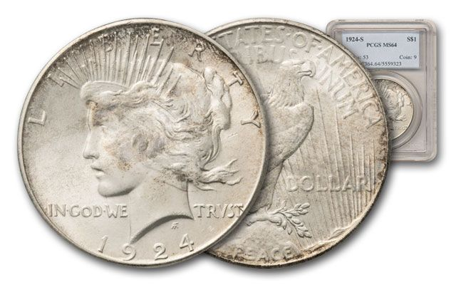 1924-S Peace Dollar PCGS MS64