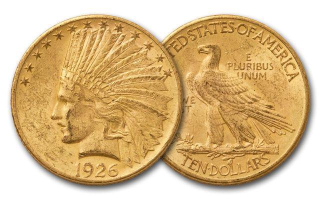 1907-1933 10 Dollar Gold Indian AU