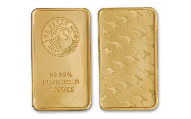 Australia 1-oz Gold Kangaroo Gold Bar - Perth Mint