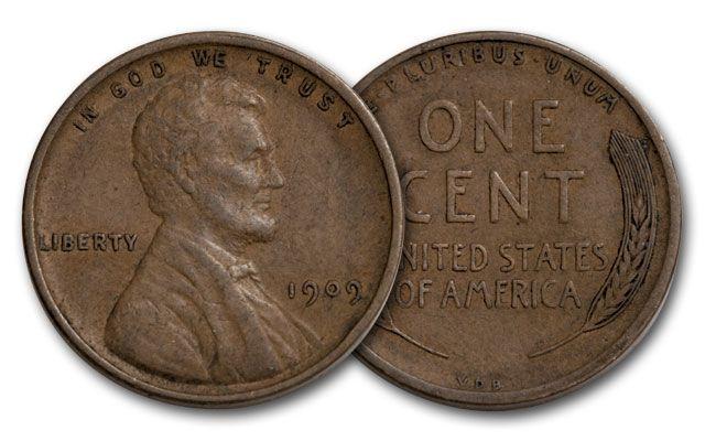 1909 1 Cent Lincoln VDB VF