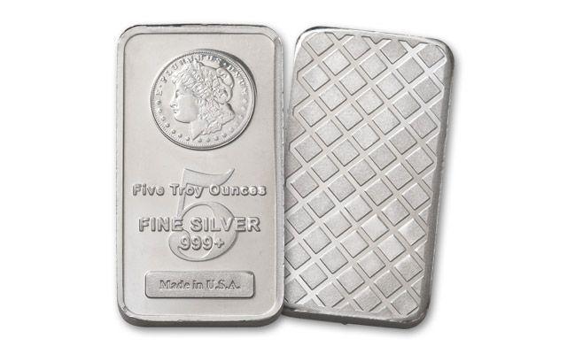 5oz Silver Morgan Design Bar BU