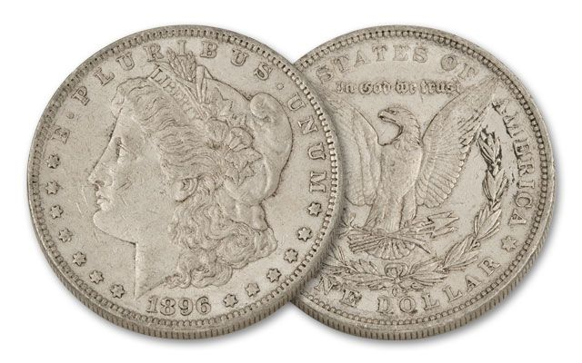 1896-O Morgan Silver Dollar XF