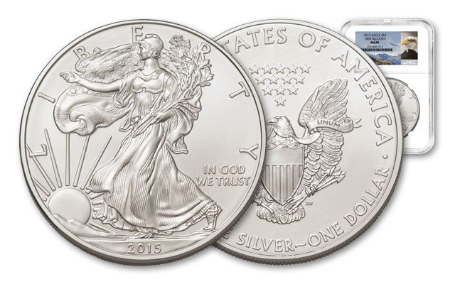 2015 1 Dollar 1-oz Silver Eagle NGC MS70 First Releases
