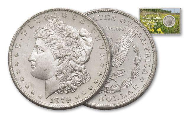 1879-S 1 Dollar Morgan Ingalls Family BU
