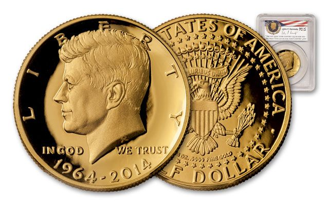 2014 Half Dollar 3/4-oz Gold 50th Anniversary Kennedy PCGS PR70DCAM First Strike - Denver