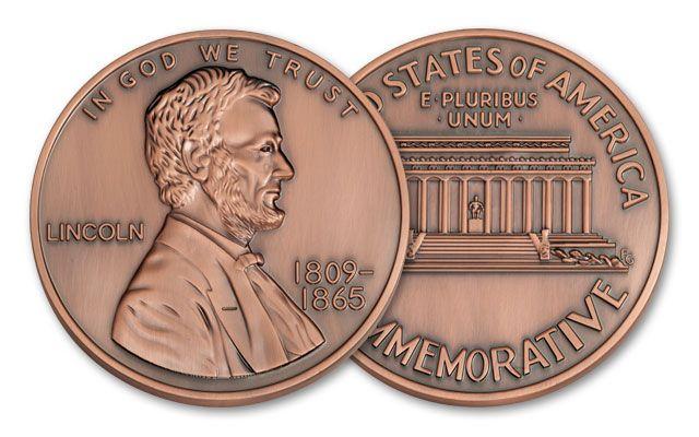 Lincoln Commemorative Bronze Antique
