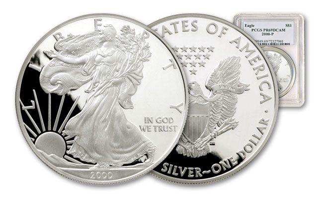 2000 1 Dollar Silver Eagle NGC PF69
