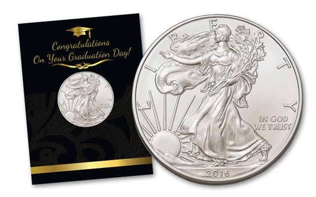 2016 1 Dollar 1-oz Silver Eagle BU Graduation Coin Pack
