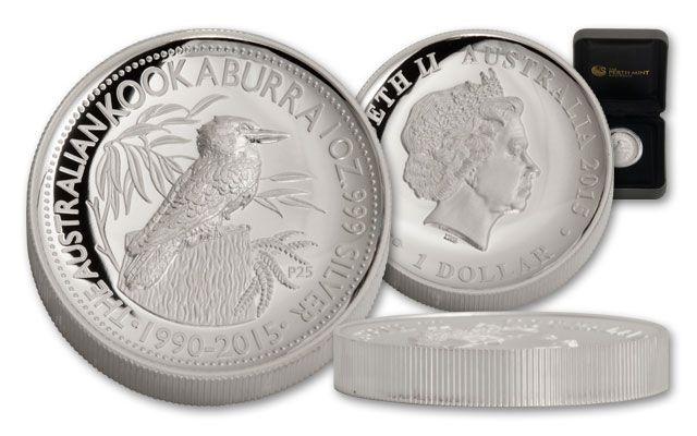 2015 Australia 1-oz Silver Kookaburra High Relief Proof