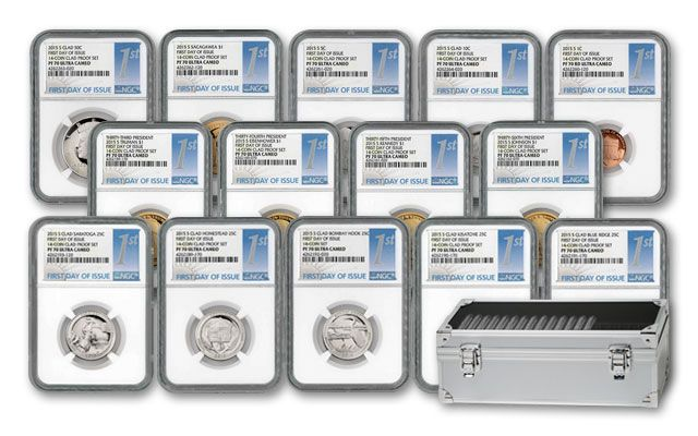 2015 U.S. Proof Set NGC PF70 First Day of Issue