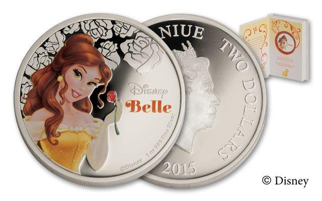 2015 Niue 1-oz Silver Disney Belle Proof