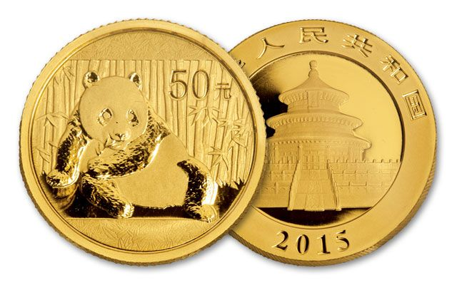 2015 1/10-oz Gold Panda BU